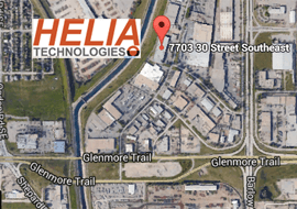 Map to HELIA in Calgary