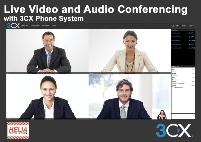 3CX Phone System delivers Video Conferencing